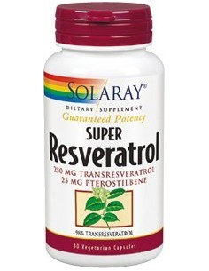 Super Resveratrol 250 mg 30 cap Solaray