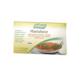 Caldo vegetal  Bio Plantaforce Diet sin sal 8 cubitos