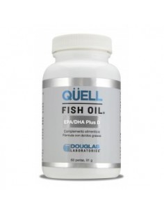 QUELL FISH OIL EPA/DHA Plus D3 60 perlas DOUGLAS