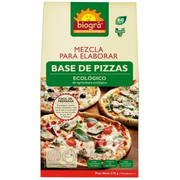 MEZCLA BASE PIZZA Bio 500gr Biogra