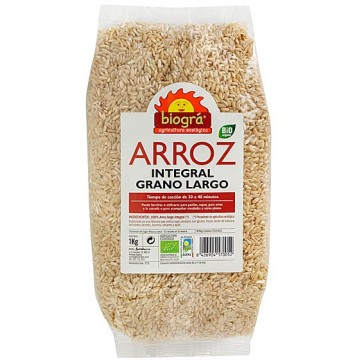 Arroz integral largo Bio 1Kg Biogra