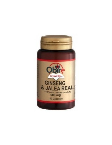 Ginseng Y Jalea Real 60 Caps. 600Mg - Obire